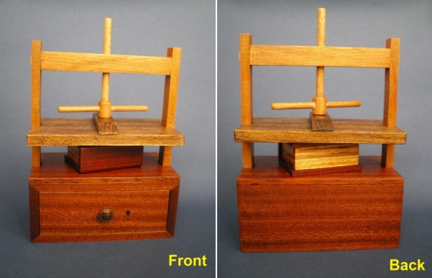 Book press puzzle box